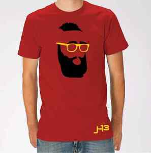 8fb2f2c89680 Image is loading Fear-The-Beard-HOUSTON-James-Harden-RED-T-