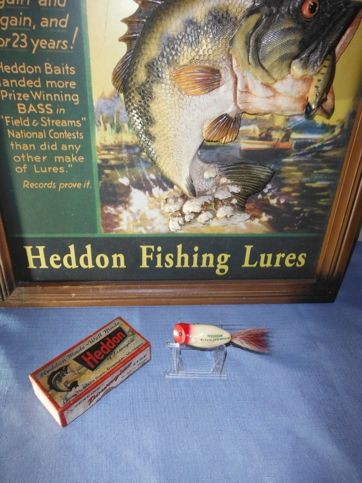 Vintage Heddon   Dowagiac Minnow Weedless Willow Fishing Lure w Box  best sale