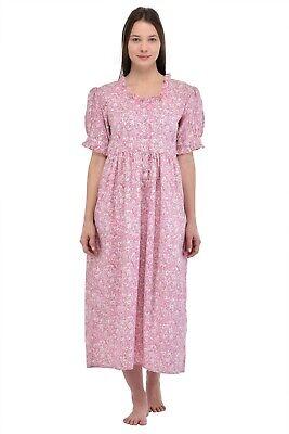 Obligatorisch Printed Pure Cotton Short Sleeve Nightdress | Cotton Lane