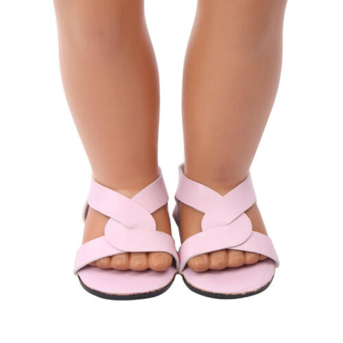 1 Pair doll shoes doll sandals for 18 inch 43cm dolls acces Christmas giftF8