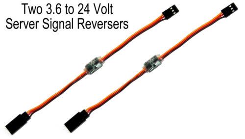 Two 2X High Voltage Servo Signal Reversers JR Futaba RC Airplane V-Tail Reverse