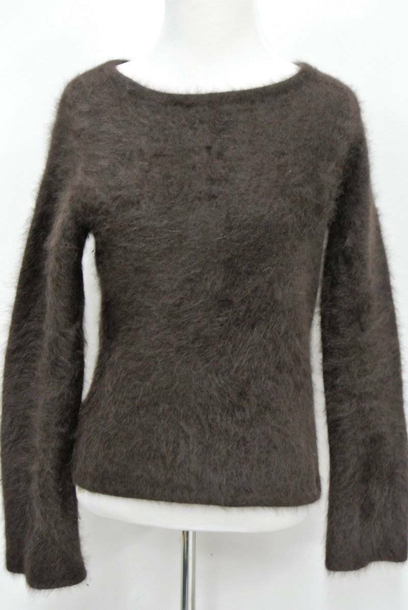 VTG J CREW Fluffy 80% ANGORA Rabbit Hair Sweater M Runs Small & Short