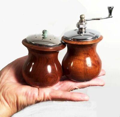 Mid Century Teak Salt and Pepper Shakers