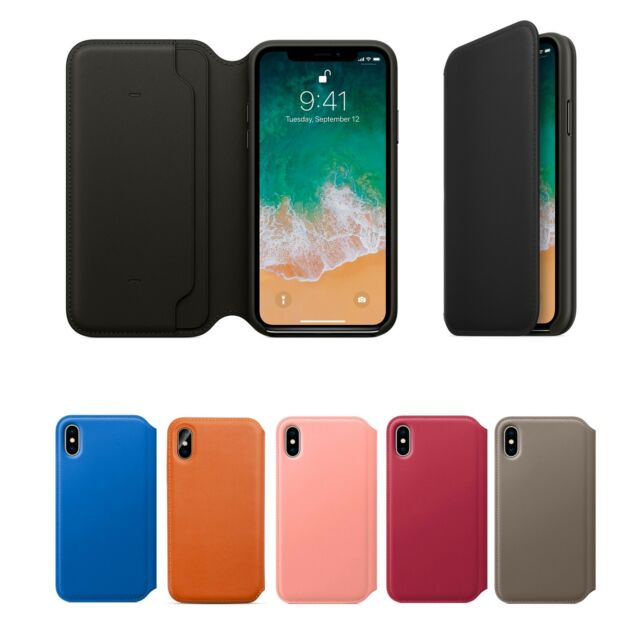 check out 60b70 42408 Genuine Leather Folio Flip Wallet Case Cover For Apple iPhone 10 X 8 7 6  Plus 6s