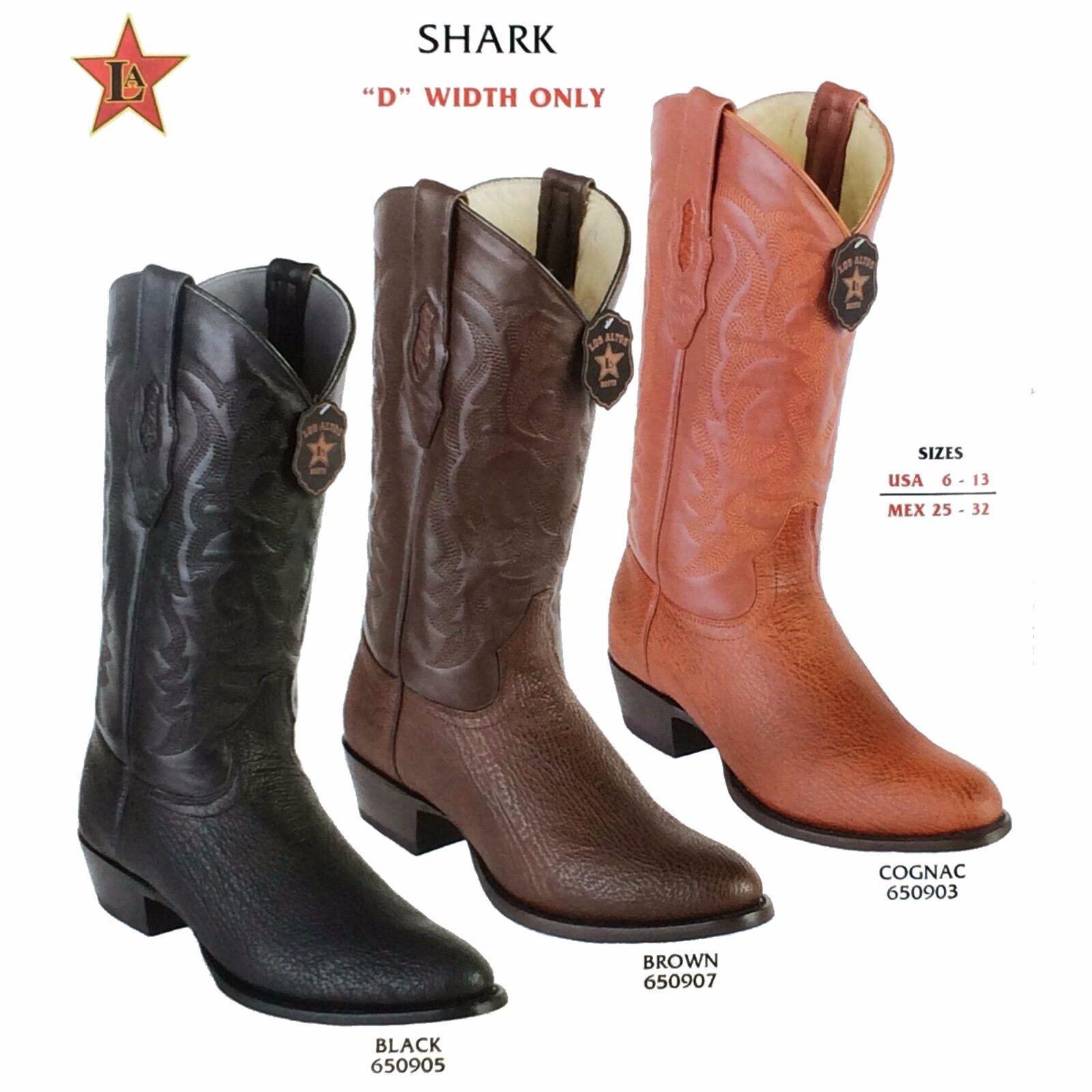 Los Altos, Western Men's Boots, Shark, H-65 Round Toe, Cowboy Boots