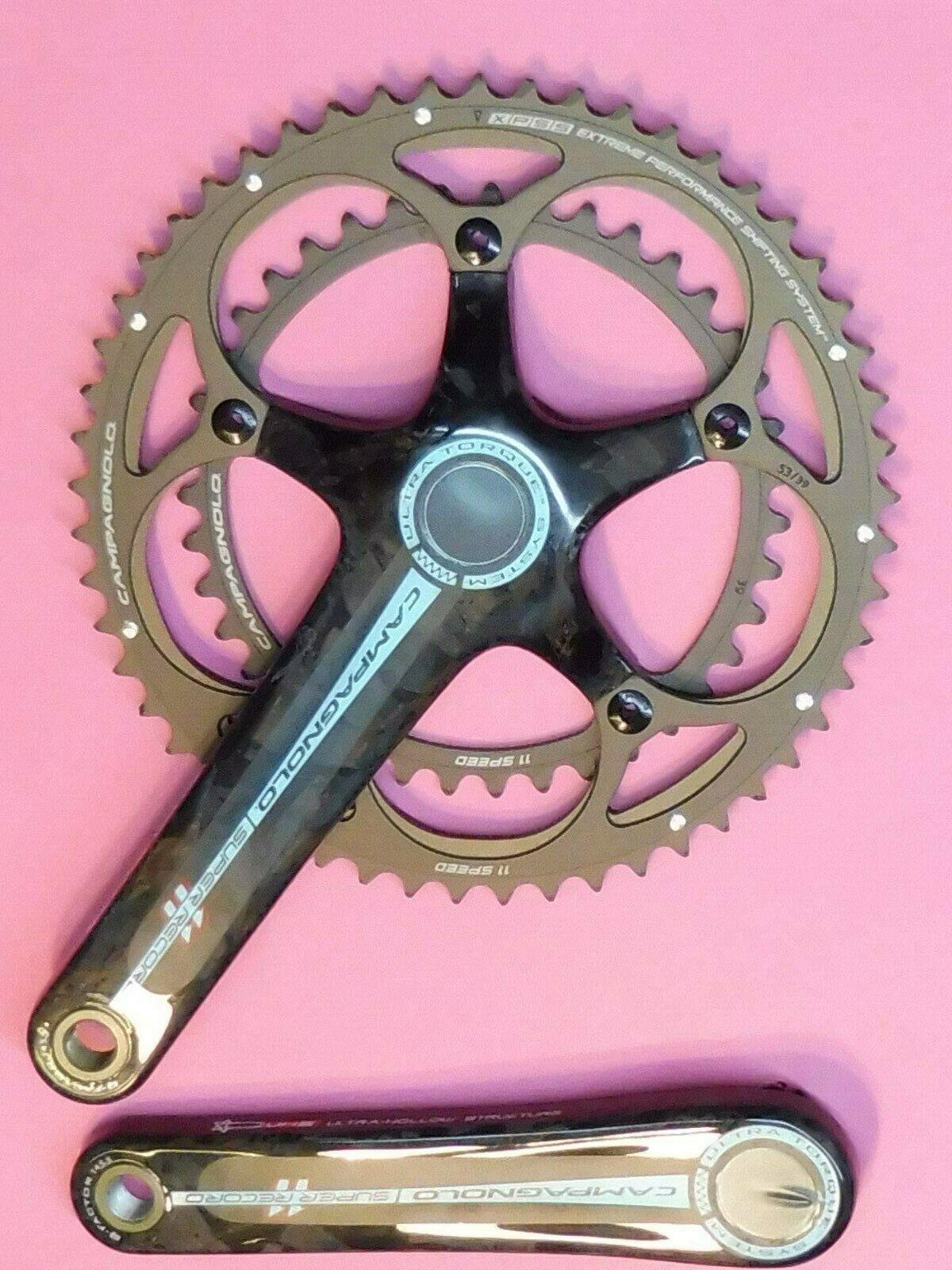 Campagnolo Súper Record 11 Sp.2011-175 39.53   Bicicleta Pedalier NOS