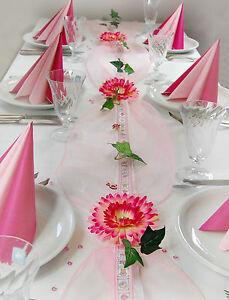 Taufe Deko Mädchen : kompl tischdeko tischschmuck taufe geburt m dchen rosa pink ca 16 20 pers ebay ~ A.2002-acura-tl-radio.info Haus und Dekorationen