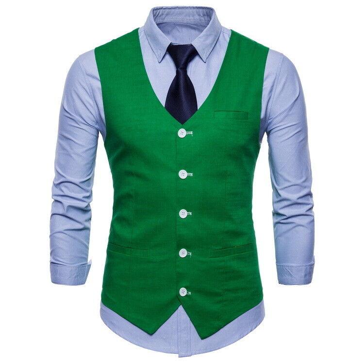 Nouveau Débardeur fashion homme robe formelle Gilet Slim Business Costume Waistcoa 3035