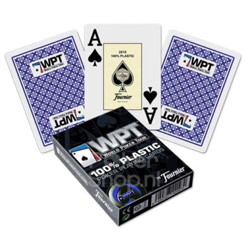 Jeu de 54 cartes Poker FOURNIER WPT 100/% PLASTIQUE Bleu ou Rouge Jumbo //420970