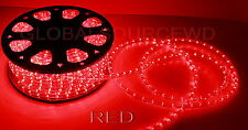 """150"""" FEET LED Rope Lights RED COLOR 1/2"""" /13MM 1656 LEDs With Accessories"""