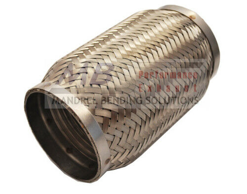 """Flex Pipe Coupler Inter Locking Liner 2 1//2/"""" x 4/"""" Stainless Steel Exhaust MBS"""