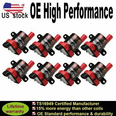 8 Ignition Coil Pack for Chevy Silverado 1500 GMC 5.3//6.0L//4.8L UF-262 D585 HOT