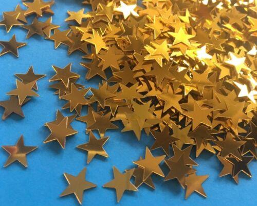 50 Gold Sterne zum Basteln Dekorieren Karten Geschenk Glitter Tischdeko Bauen
