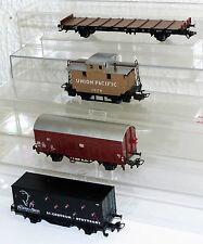 4x Märklin Güterwagen: 4576, 4481, 4411, Flachwagen 80 459 Sm H0