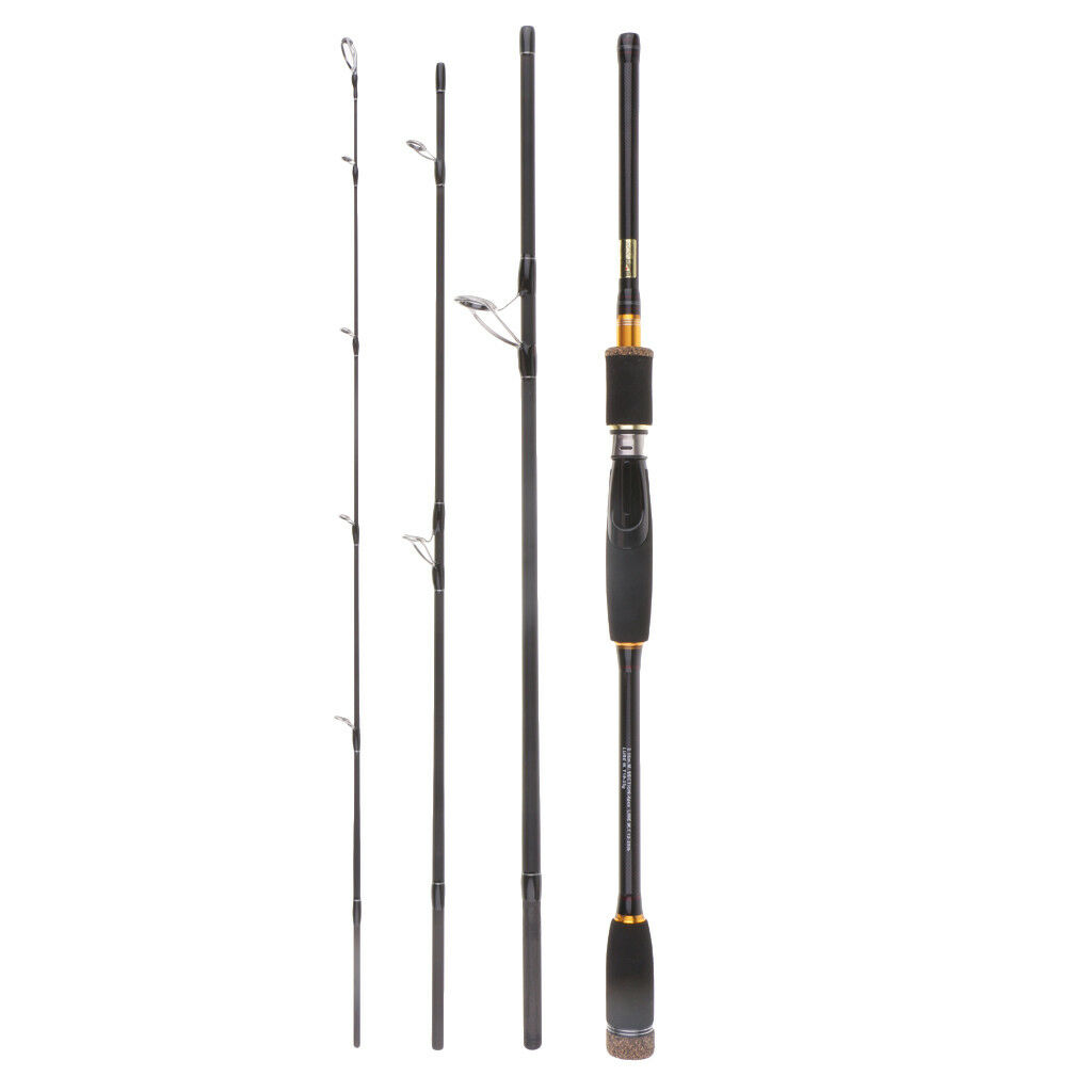 Travel Spinning Fishing Rod Ultralight Carbon Fiber Pole Line Weight 12-25lb