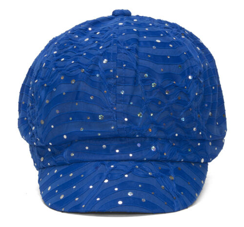 Top Headwear Women/'s Glitter Sequin Trim Newsboy Style Relaxed Fit Hat Cap