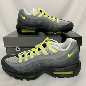 Details about Nike Air Max 95 OG BLACK NEON YELLOW MENS Size 8.5 CT1689-001