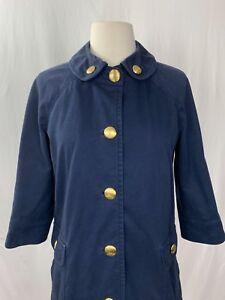Juicy Couture Navy Blue Jacket Medium Coat 3 4 Sleeve