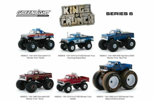 KINGS OF CRUNCH SERIES 6 BOX OF 6 1//64 DIECAST CARS