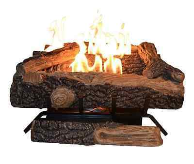 24 In Vent Free Propane Gas Fireplace Logs Insert Adjustable