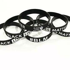 Umiitto Movement Bracelets Black Lives Matter Silicone Bracelet Rubber Wristbands BLM Justice