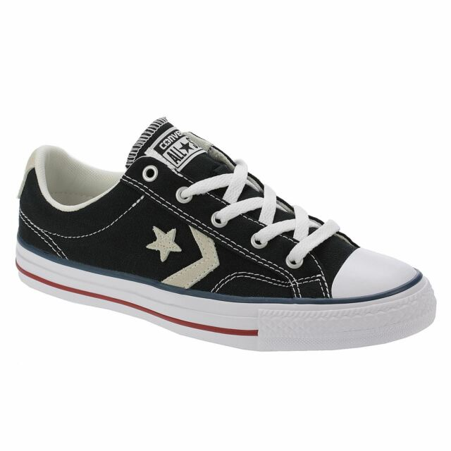 4b44091e2de283 Converse Star Player Ox Mens Trainers Black White Shoes 8 UK for ...