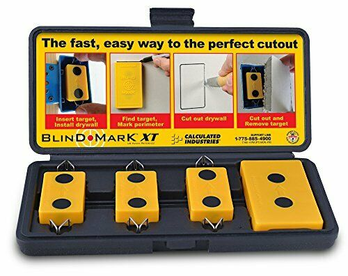 Accurate Handy Magnetic Drywall Electrical Box Locator Tool Set - Blind Mark