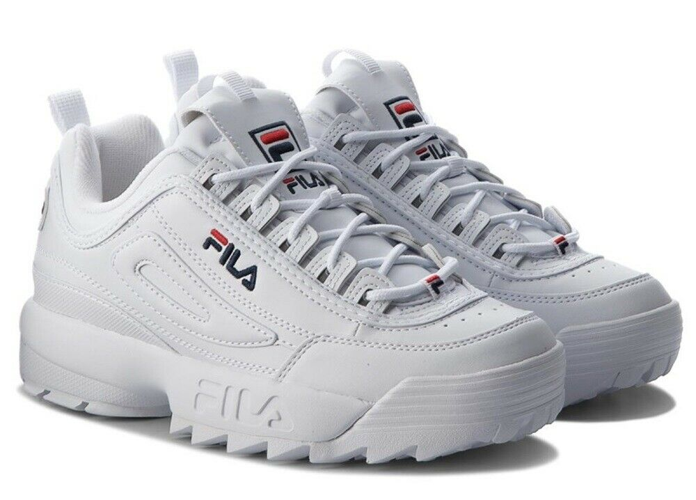 FILA DISRUPTOR LOW Scarpe Donna Ragazzo Sports scarpe da ginnastica Running Basket Pelle