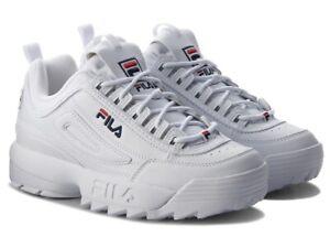 Dettagli su FILA DISRUPTOR scarpe donna ragazzo sportive sneakers running  basket pelle zeppa