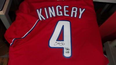 online store 0b8e1 7299a Scott Kingery Philadelphia Phillies Signed Replica BP Jersey FANATICS COA |  eBay