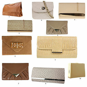 Image Is Loading New Beige Cream Tan Clutch Bags Snake Patent