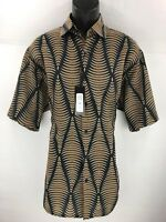 Bassiri Men's Short Sleeve Shirt Black Charcoal Mustard Beige Sizes M - 4xl 3881