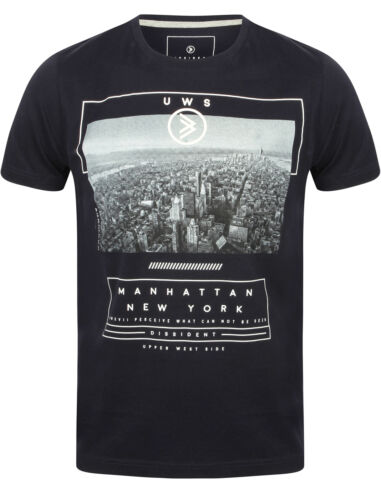 XXL New Mens Dissident Upper West Side Crew Neck Cotton Printed T-Shirt Size S