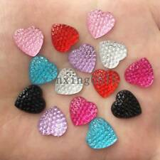 20PCS AB Resin heart Dotted Rhinestone Flatback 16mm Cabochon Gem//DIY buttons