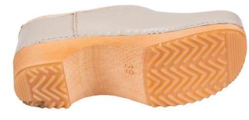 Wooden close Leder clogs ZF1    Beige color  ZF1  Damens 53acba