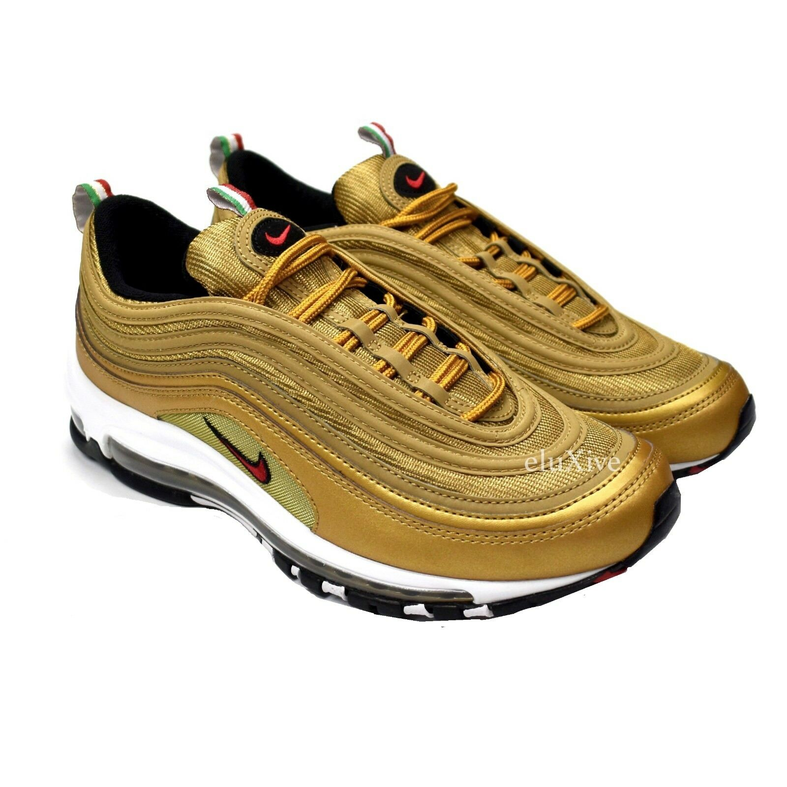 98b606b242 NWT Nike Air Max 97 IT Men's Metallic Gold Italy Flag Sneakers DS 2018  AUTHENTIC