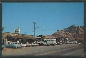 AZ-Sedona-CHROME-PC-1960-039-s-STREET-SCENE-Gas-Station-STORES-by-Arizona-Pictures
