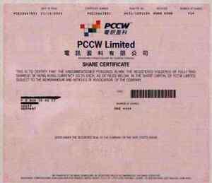 Ambitieux Pccw Pacific Century Cyber Works 2003 Hong Kong Chine United Kingdom 1 Share-afficher Le Titre D'origine