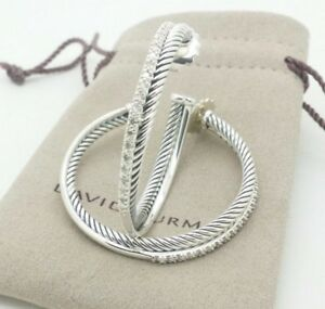 Image Is Loading David Yurman Silver Extra Large 44mm Crossover 65ct
