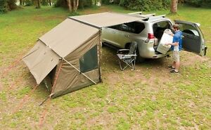 Image Is Loading Rhino Roof Rack Awning Amp Tagalong Tent Camping
