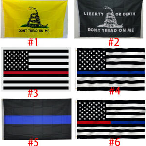 Police Thin Blue Line Don/'t Tread On Me Gadsden Rattlesnake American Flag Law