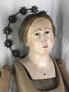 Manichino Devozione Pietà Domestica Legno 85 Cm Madonna Interior design Barocco