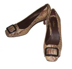 Cole Haan Womens Size 6.5 B Brown Leather Buckle Heels Pumps Women's Shoes Clothing, Shoes & Accessories