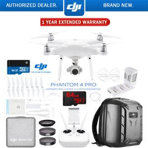 DJI Phantom 4 Pro Quadcopter Drone + Battery Charging Hub...