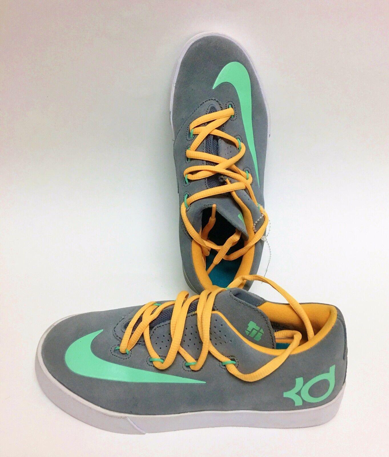 NEW NIKE VULC SUEDE KD SNEAKERS,Gris+Jaune+MINT Vert BOY Chaussures Chaussures Chaussures Taille:US 5Y,EUR3 d73067