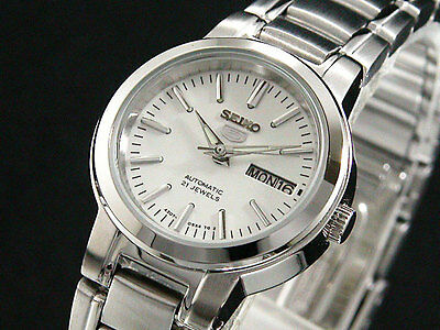 Seiko 5 Women's SYME39K Stainless Steel 21 Jewels Automatic Bracelet Watch