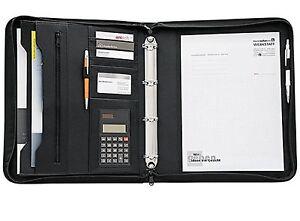 Schreibmappe-Collegemappe-A4-mit-Rechner-A5-ohne-Rech-Kunstleder-4-Ringe-schwa