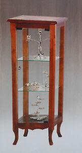 Arte Povera Vetrinetta in Legno Massello tutto vetro | eBay