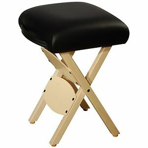 Awesome Details About Mt Massage Wooden Handy Folding Portable Adjustable Stool Chair Black Inzonedesignstudio Interior Chair Design Inzonedesignstudiocom