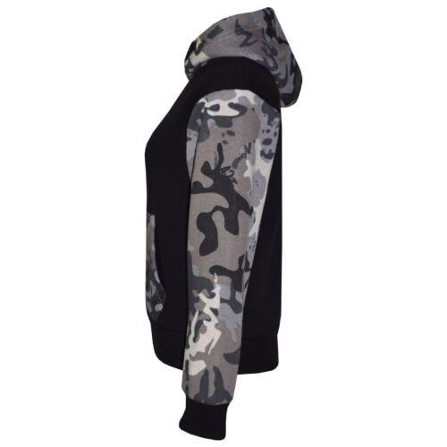 Boys Kids Camouflage Fleece Tracksuit Warm Winter Sport Hooded Jacket AGE 7-13
